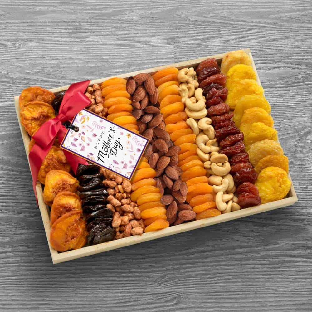 Mothers Day Dried Fruit and Nut Tray