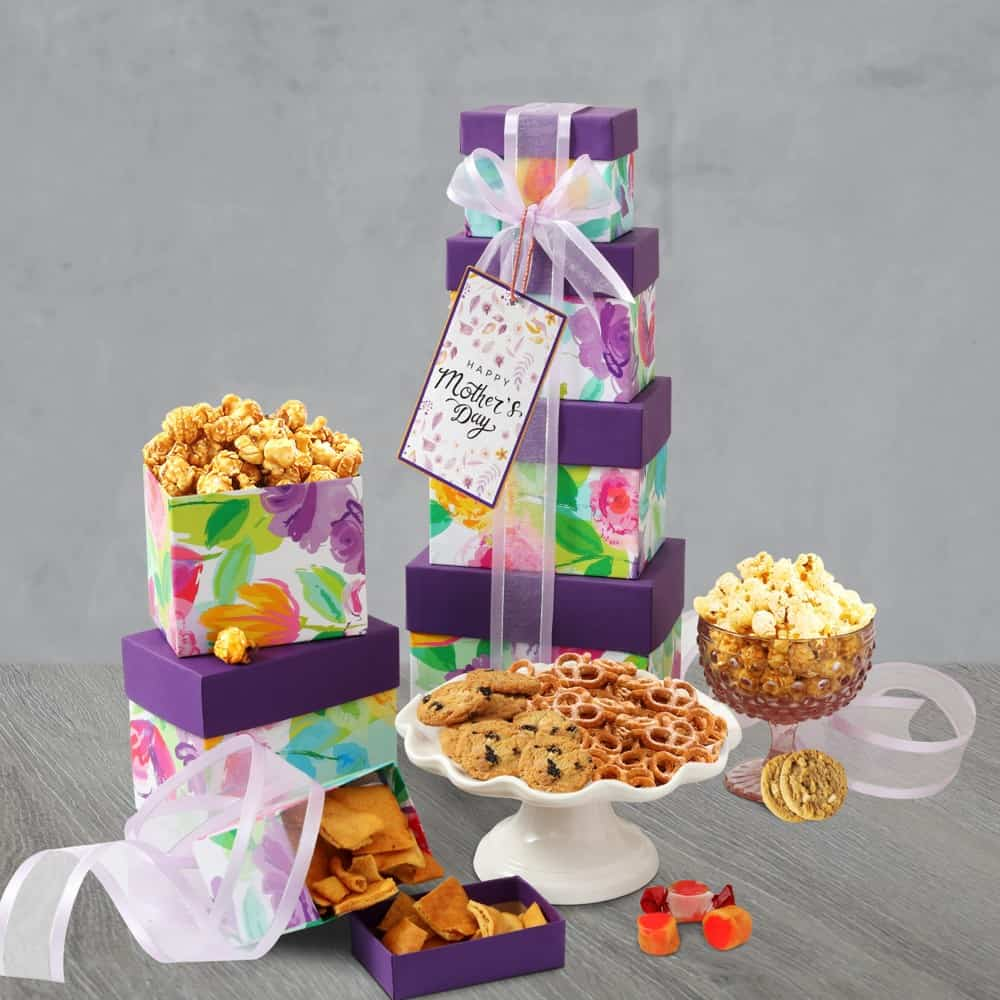 Mothers Day Floral Gift Tower