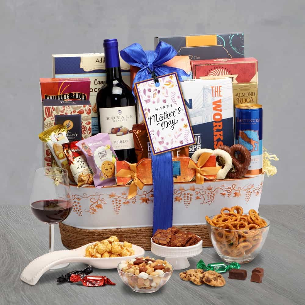 Mothers Day Wine Duo Gift Basket