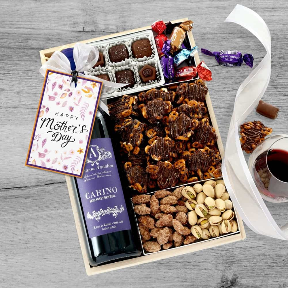 Mothers Day Wine Gift Tray