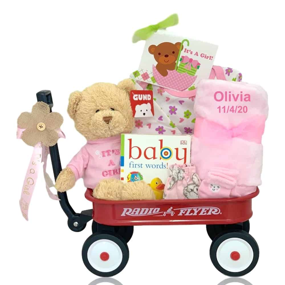 Personalized Baby Girl Gift Basket