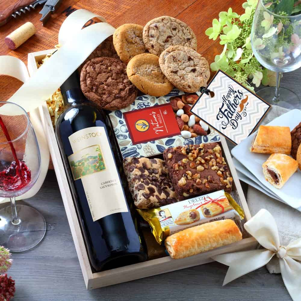 Red Wine Gift Tray for Fathers Day