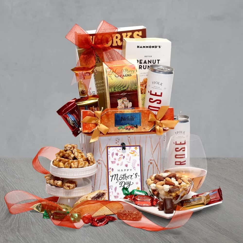 Rosé Gift Basket for Mom