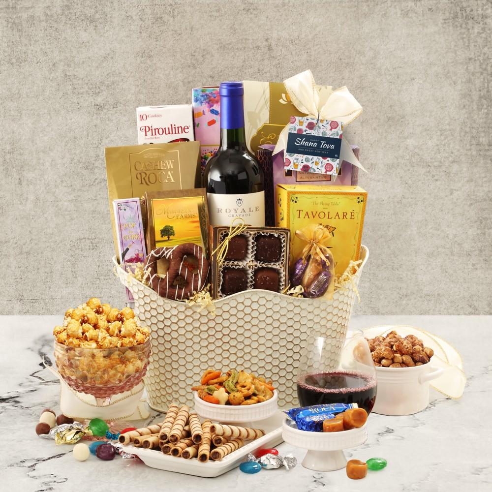 Rosh Hashana Merlot Wine Basket