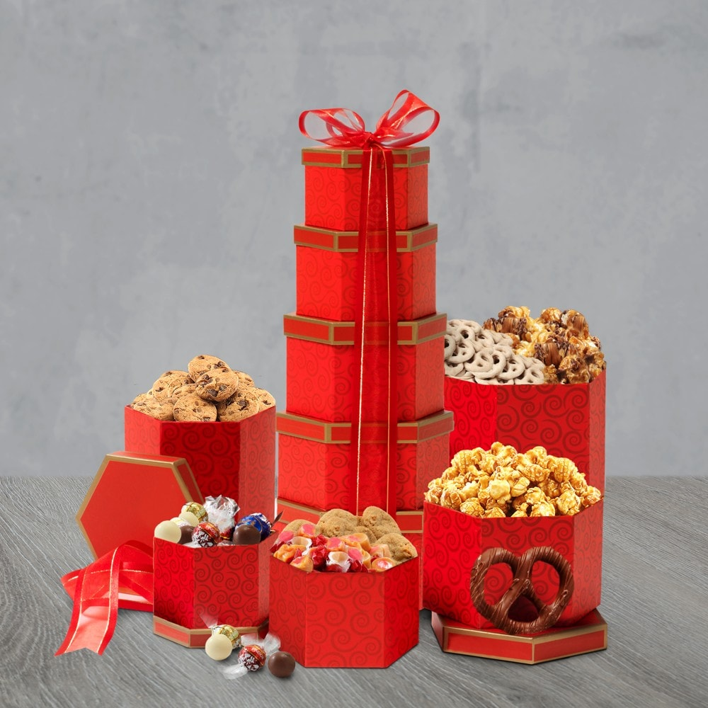 Ruby Red Gift Tower