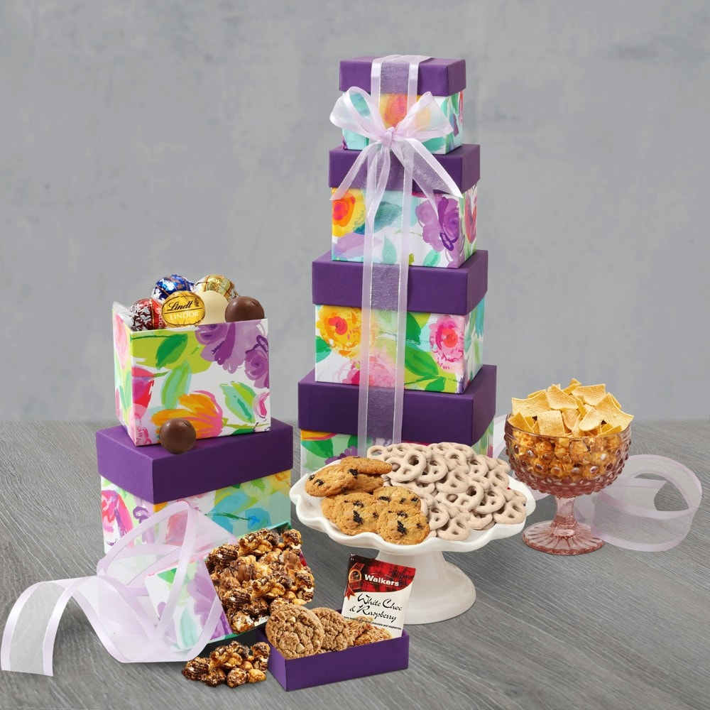 Snacks and Sweets Gift Tower
