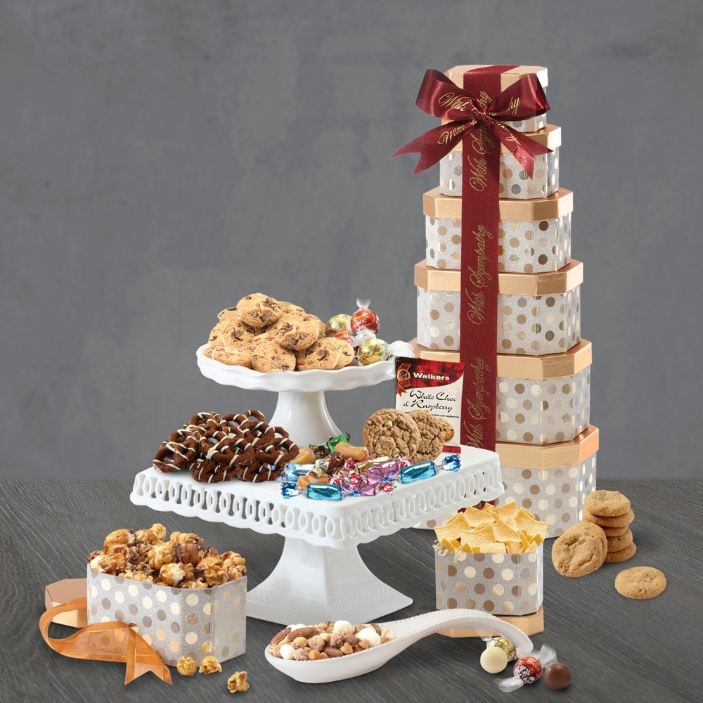 Sympathy Thinking of You Gift Tower