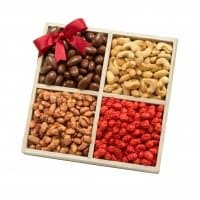 Gourmet Nuts Gift Basket | Nut Gift Tray for Hanukkah