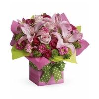 Pretty Pink Flower Present