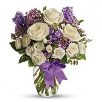 Purple & White Flower Bouquet - Flower Gifts