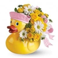 Ducky Delight - Baby Girl Flower Gift