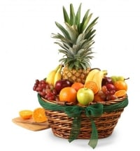 Fruit Basket With Pineapple, Mango Kiwi & More