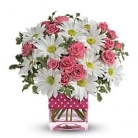 Polka Dots and Posies Flower Bouquet