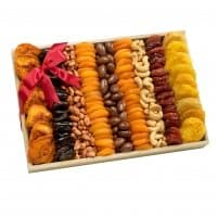 Gourmet Gift Tray With Dried Fruits & Nuts