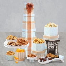 Sweet & Salty Snacks Holiday Gift Tower
