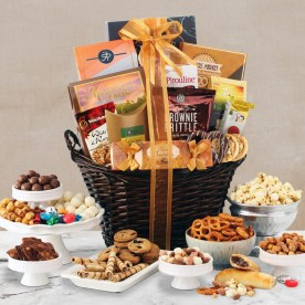 Holiday Hearth Grand Gift Basket