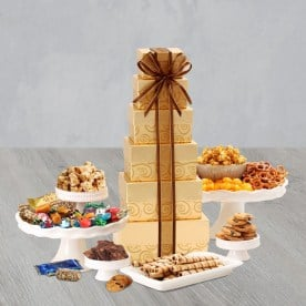 Gourmet Food Gift Boxes | Festive Gift Tower | Deluxe Sweets