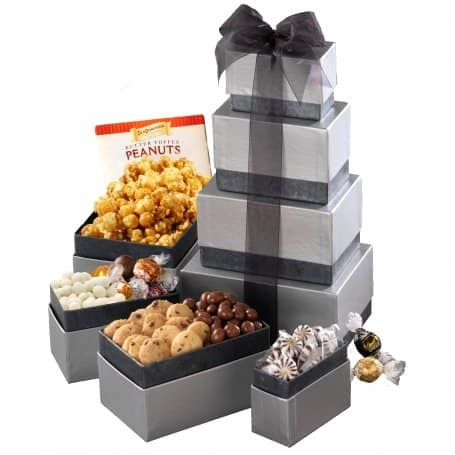 Hanukkah gift baskets kosher chanukah gift baskets broadway sterling silver gift tower negle Image collections