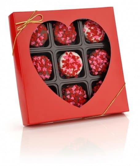 Heart Sprinkles Chocolate Dipped Oreos