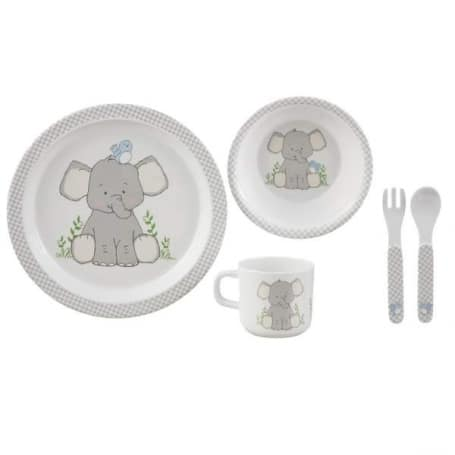 Baby Boy Blue Elephant Tin