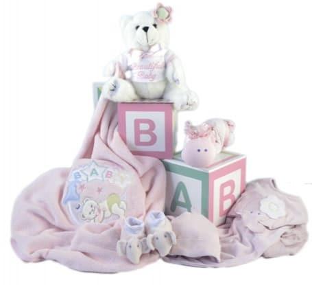 Welcome Baby Girl Gift Set
