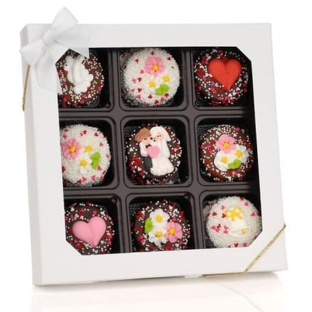 Chocolate Dipped Wedding Oreos Gift