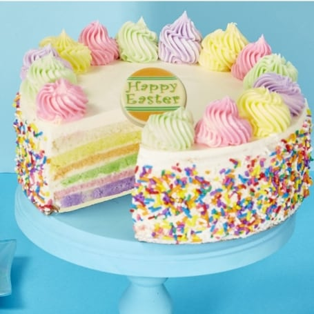 Easter Celebration Rainbow Cake