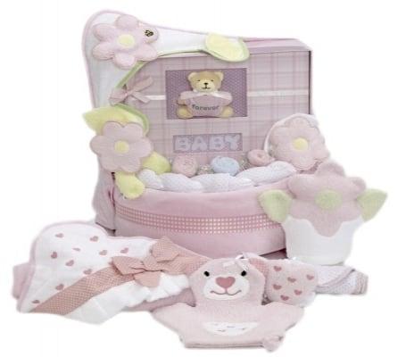 Baby Girl Book Towel & Blanket Cake