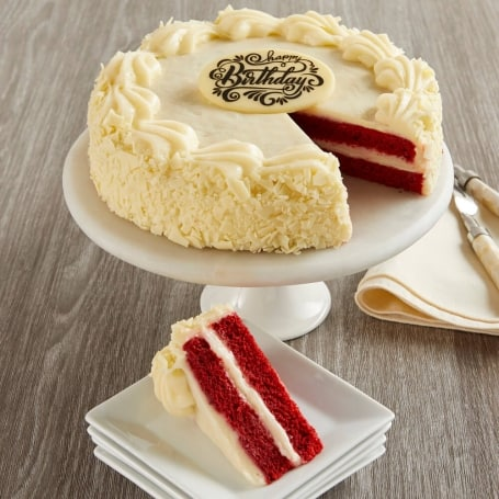 Red Velvet Chocolate and Cream Cheese Frosting Birthday Cake