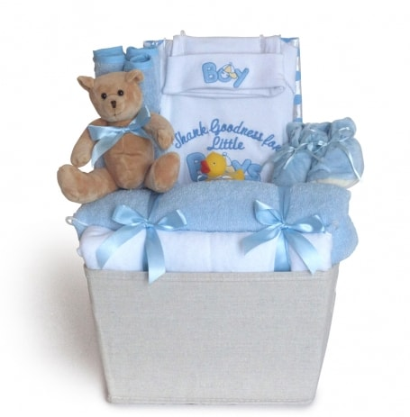 Baby Boy Thank Goodness Basket Gift