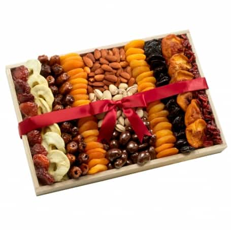 Holiday Dried Fruit and Nuts Gift Tray