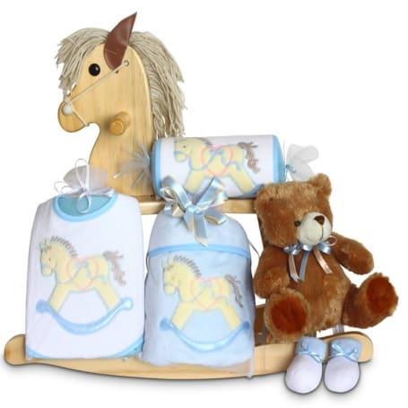 Baby Boy Rocking Horse Gift Set