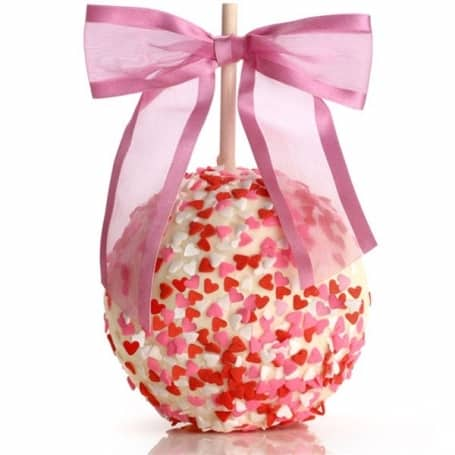 Valentines Day Chocolate & Caramel Dipped Apple