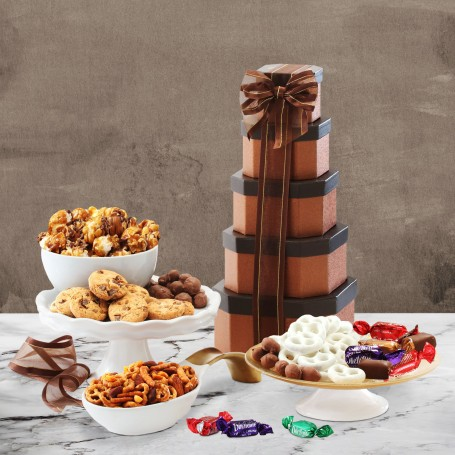 Gourmet Holiday Gift Tower of Sweets