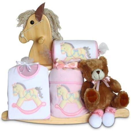 Rocking Horse Baby Girl Gift