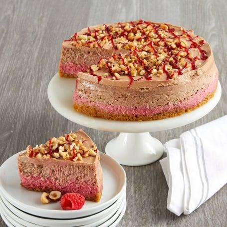 Raspberry Hazelnut Cheesecake