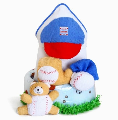 Baby Boy Little Slugger Sport Theme Gift Set