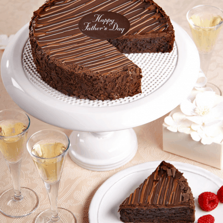 Triple Chocolate Brownie Cake for Fathers Day