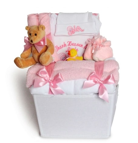 Thank Heaven Baby Girl Gift Basket