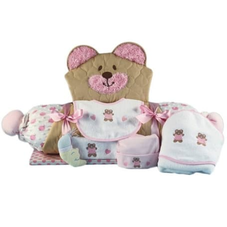 Baby Girl Gift Bear Play Mat & Layette