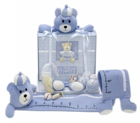 Baby Boy Photo Album and Growth Chart Gift Set