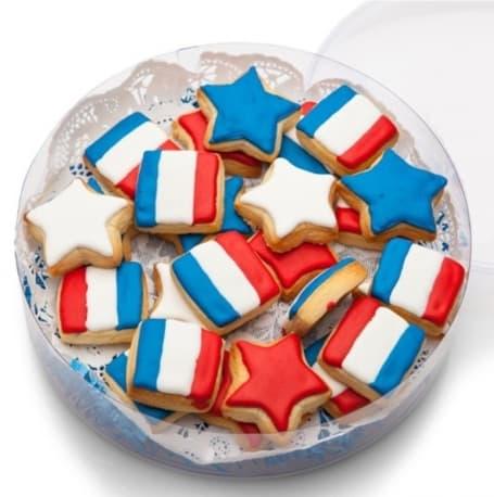 Patriotic Mini Shortbread Cookies