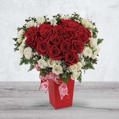 Valentines Day Heart Bouquet