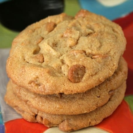 Peanut Butter Cookies with Reese's Chips