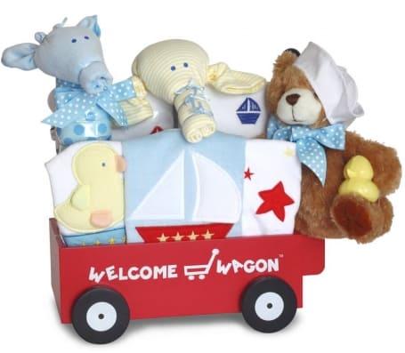 Baby Boy Welcome Nautical Wagon Gift Set