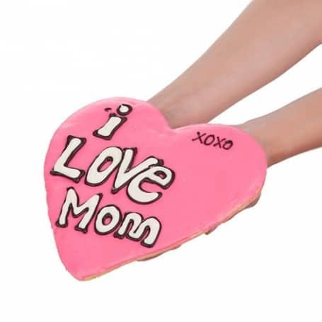 Giant I Love Mom Heart Shaped Cookie
