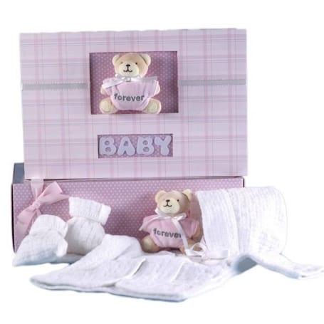 Knitted Sweater Set & Keepsake Album Baby Girl Gift