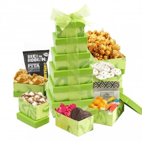 Gift Baskets for Hanukkah | Holiday Treat Towers