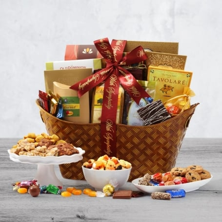 With Sympathy Classic Gift Basket