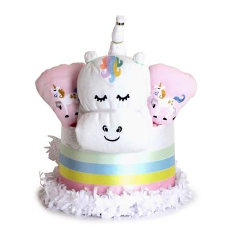 Unicorn Diaper Cake for Twins